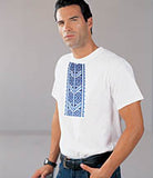 Traditional Embroidery Blue T
