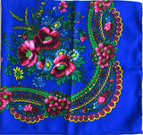 Royal acryllic floral shawl 30 in.