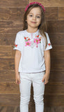Girls Shypshyna Short Sleeve White Tshirt