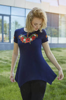 Makovyj Tsvit Short Sleeve Blue Tunic