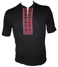 Hajdamatska Red Embroidered T-Shirt