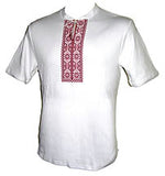 Hajdamatska White with Red Embroidered T