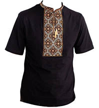 Kozatska Short Sleeve Bronze/Black Shirt