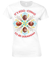 Egg Citing Ladies White Tshirt