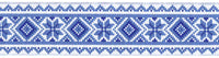 Blue Snowflake Trim 30mm x 1 yard