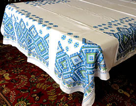 Blue Hutsul Tablecloth