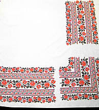 Red/Black Floral Tablecloth