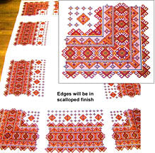 Orange Hutsul Tablecloth