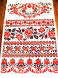 Printed Wedding Rushnyk, red/black floral