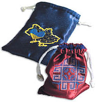 NAVY & BURGUNDY UKRAINE POUCH