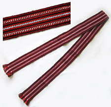 Children's Woven Red Belt - (dark)