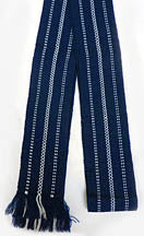 Woven Navy/White Belt - Adult size