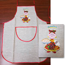 Baba with Varenyky - Linen Apron
