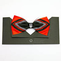 Black/Red Tryzub Bow Tie