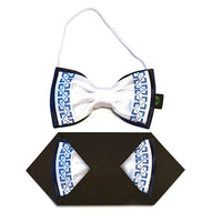 Boys Bow Tie white/blue