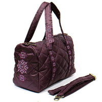 Cross-Stitch Embroidered Quilted Purse