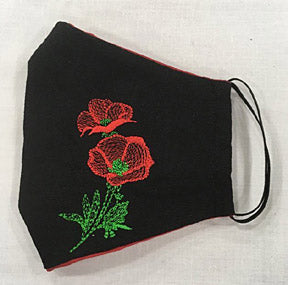 Ukrainian Poppy Design Face Mask