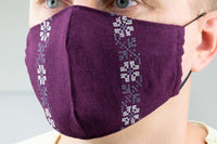 Traditional Floral Embroidery - face masks (choose from 4 colors)