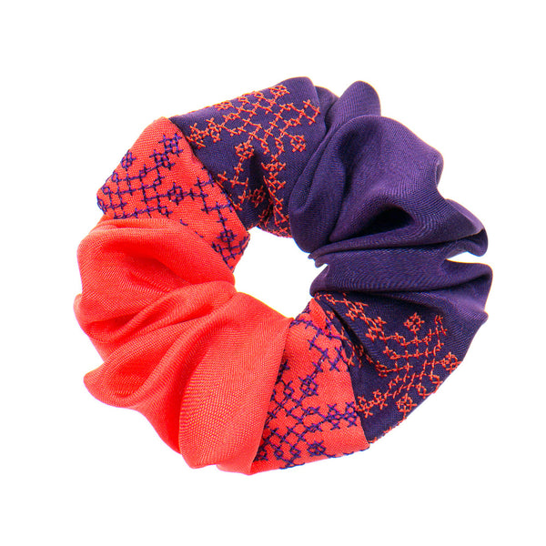 Purple - Coral Scrunchie