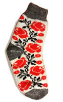 Red Rose Ladies Wool Socks