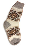 Brown-White Ladies Wool Hutsul Socks