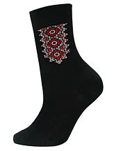Men's Black & Red Socks