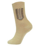 Men's Dress Socks Beige Brown - M