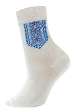 Men's White and Blue Socks