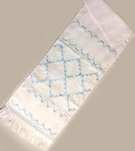 Embroidered Rushnyk with Blue Design 70 in.