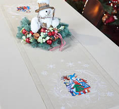 Ukrainian Carollers Table Runner 55x15.75