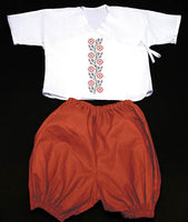 INFANT GIRL'S RED/BLK EMBR OUTFIT
