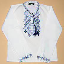 BOYS Blue EMBROIDERED SHIRT