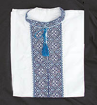 Machine Machine Embroidered Blue Shirt