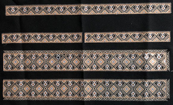 Black Embroidery Panels for Men's Shirt