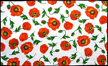 Poppy Design Cotton Waffle Towels