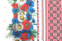 Ukraine Flowers and Embroidery Waffle Towel Gift Set