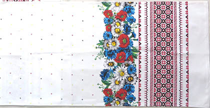 Long Vinok Floral and Embroidery Waffle Towel