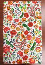 Colorful Petrykivka Design Waffle Towel