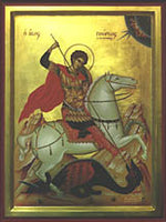 Icon - St. George,  8 x 10 in