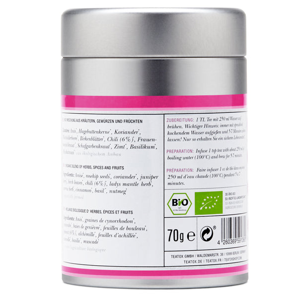 TEATOX Bio Spicy Love, 70g, Dose (6er Tray)