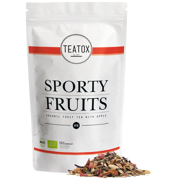 TEATOX Bio Sporty Fruits, 90g, Ziplock (6er Tray)