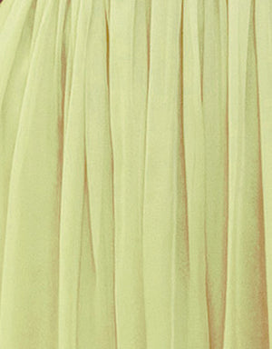 Bariano Art Silk Pastel Yellow fabric