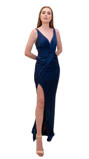 Bariano Christina Wrap Satin dress side