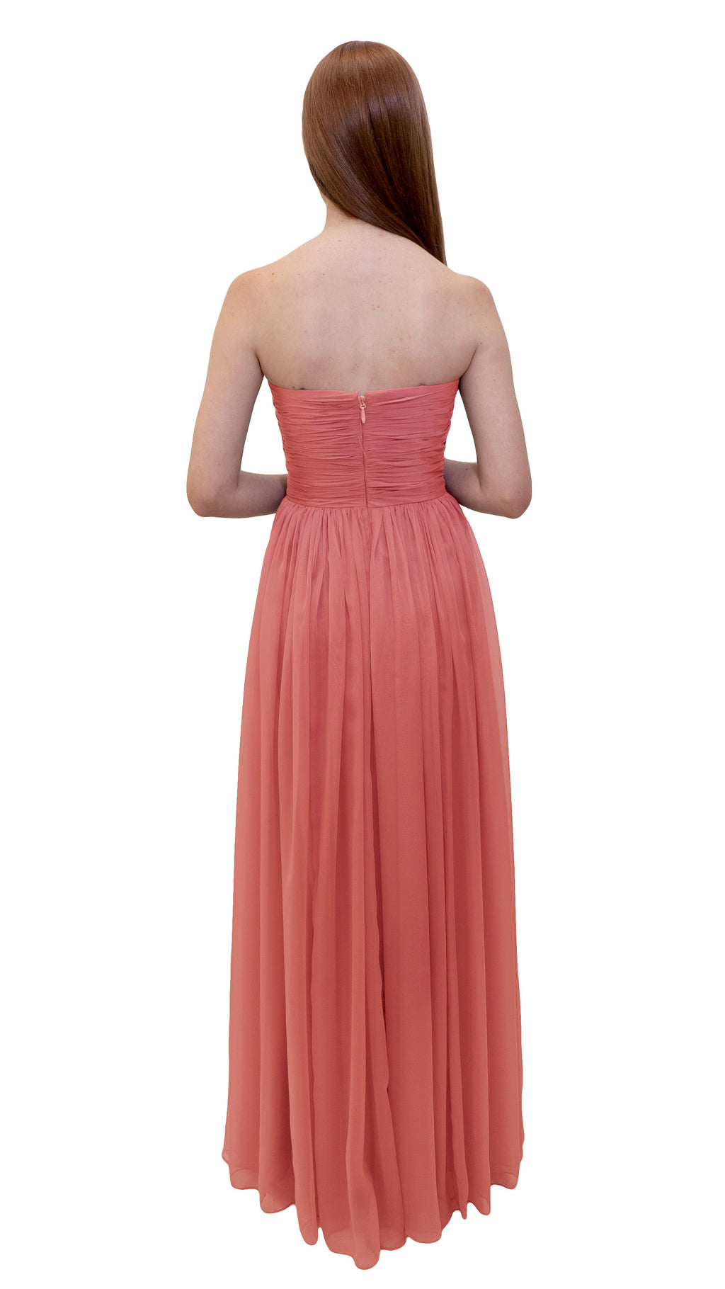 Bariano Gathered Maxi Dress Apricot back