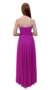 Bariano Gathered Maxi dress Cerise back