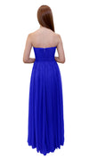 Bariano Gathered Maxi dress Cobalt back