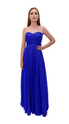 Bariano Gathered Maxi dress Cobalt front