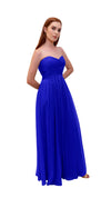 Bariano Gathered Maxi dress Cobalt side