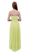 Bariano Gathered Maxi dress Pale Yellow back