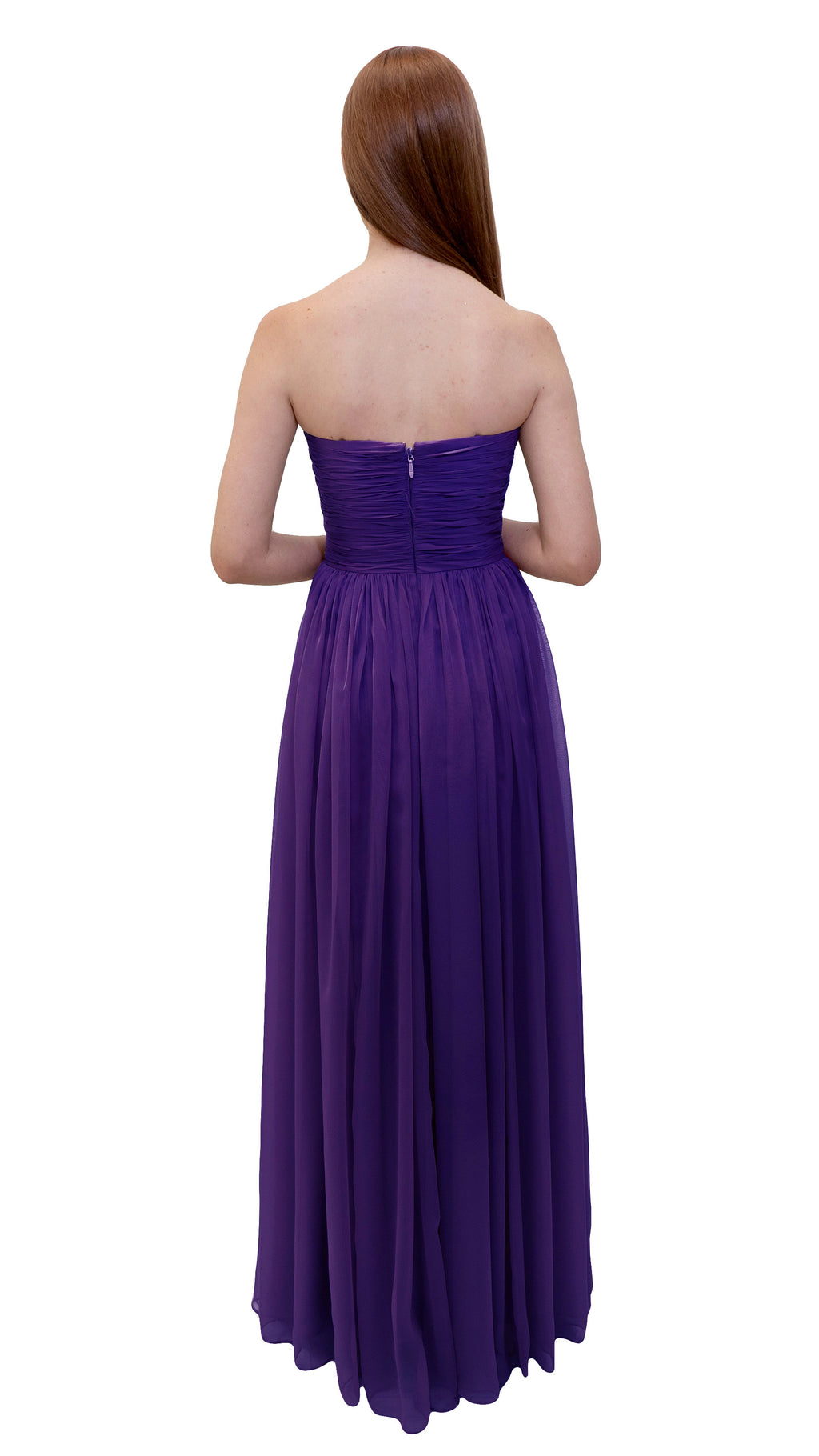 Bariano Gathered Maxi dress Purple back